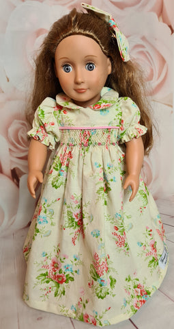 Our generation smocked dolls dress