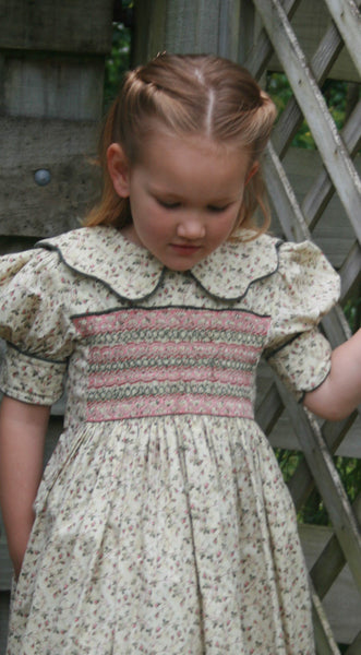 hand smocked girls party dress