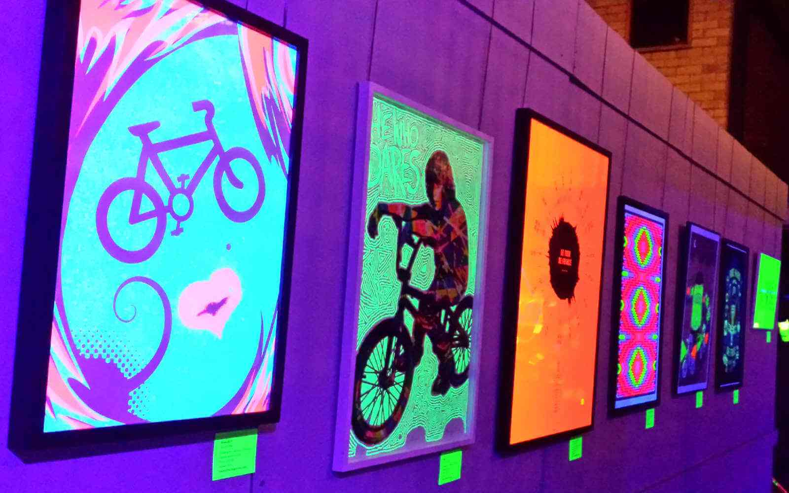 Art gallery bikes at Spin London Cycling Festival