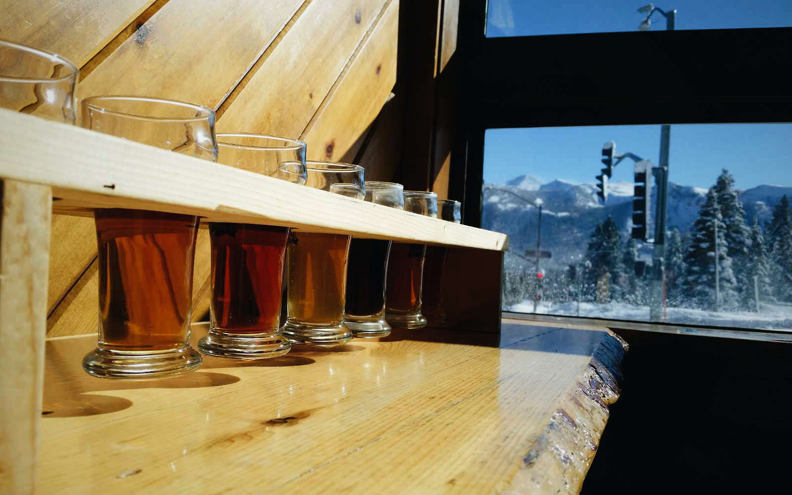 Beer tasting in Winter