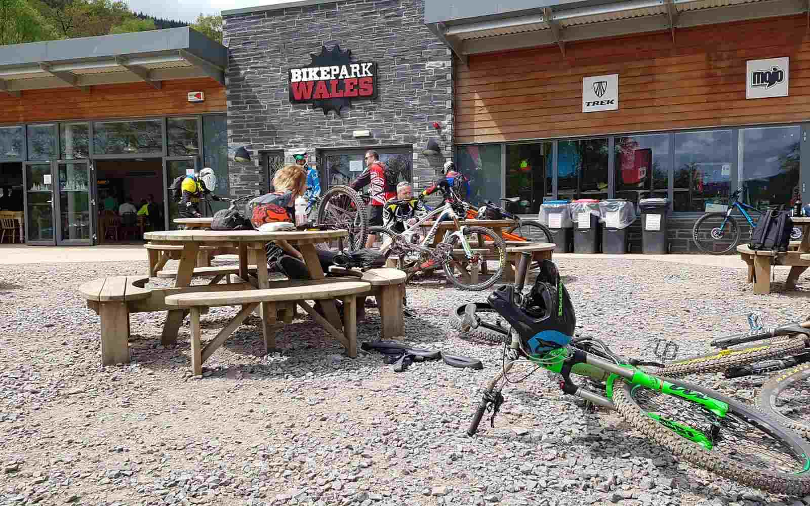 Cafe outdoors at Bike Park Wales