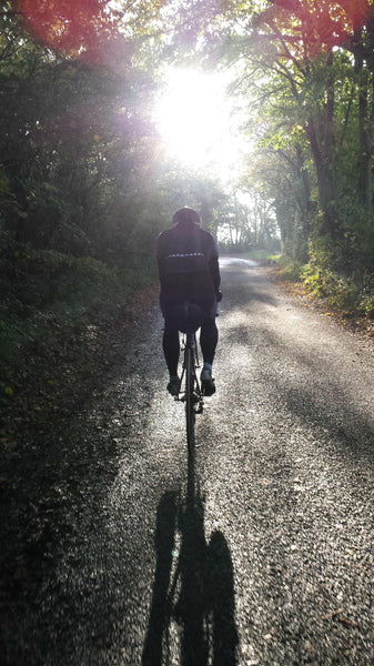 Winter cycling in the sunshine