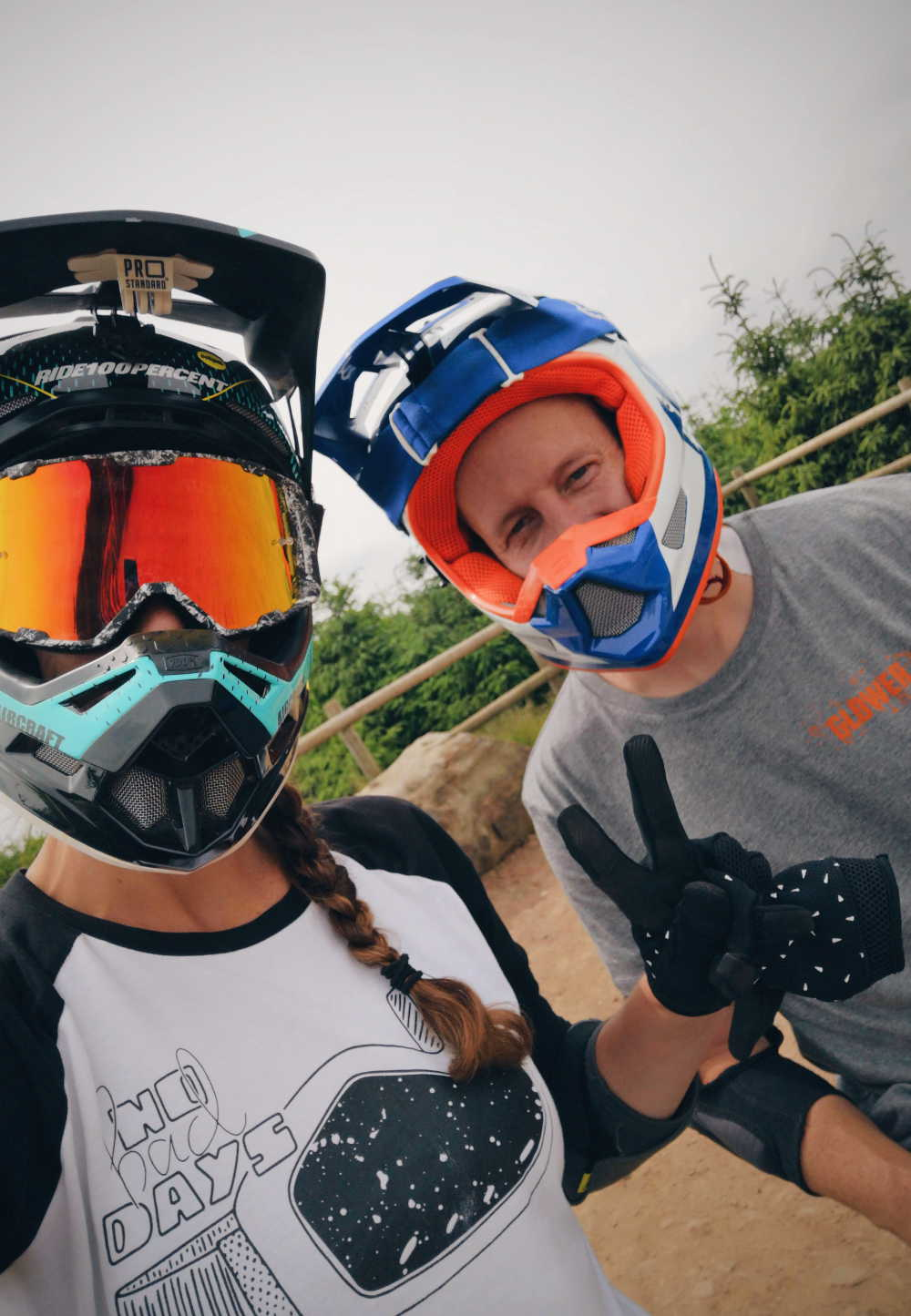 Glower clothing crew at Bike Park Wales shredding