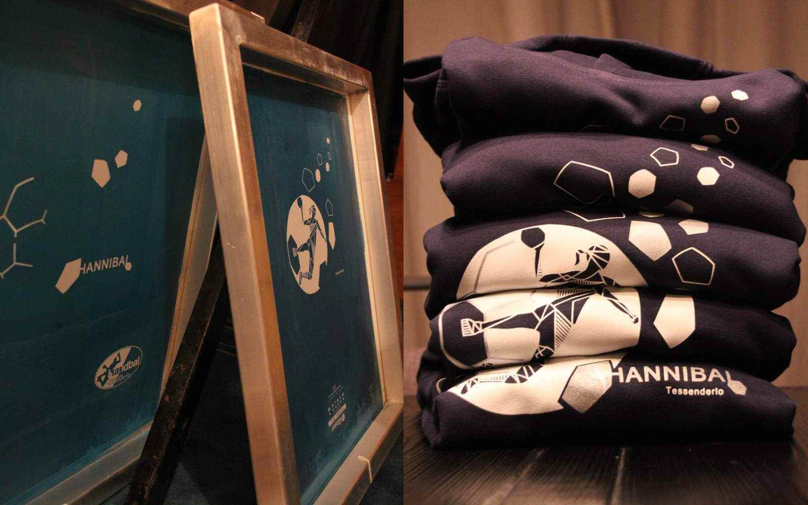 Hand printed hoodies handball with screens