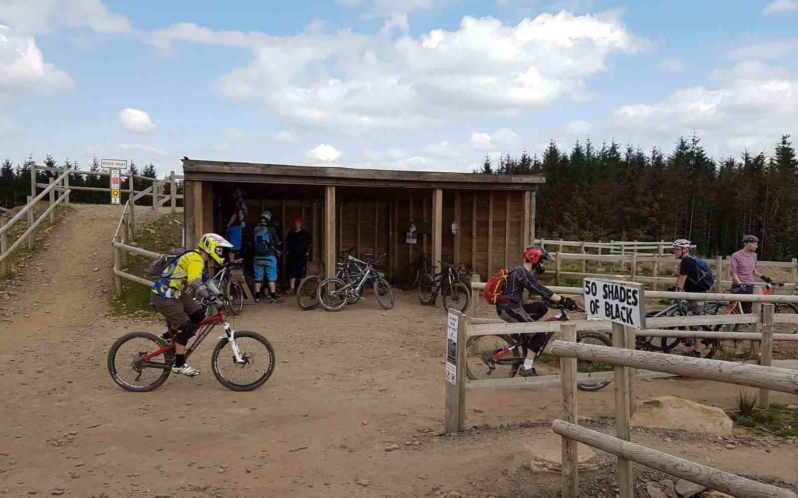 At the top of the trails Bike Park Wales centre