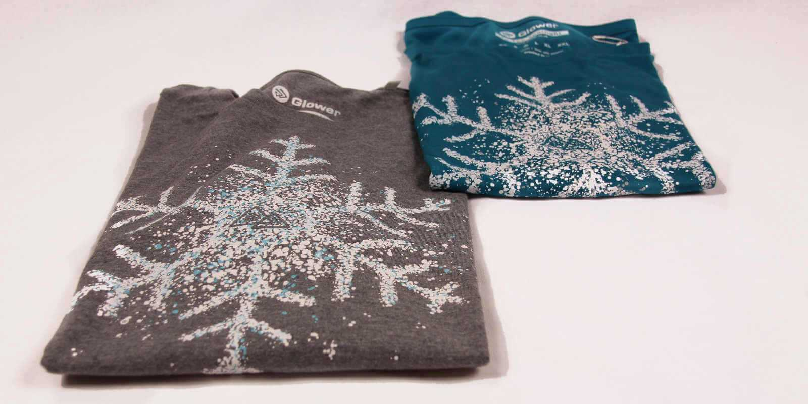 Snowboarding print tshirts In the Spotlight in Glower shop