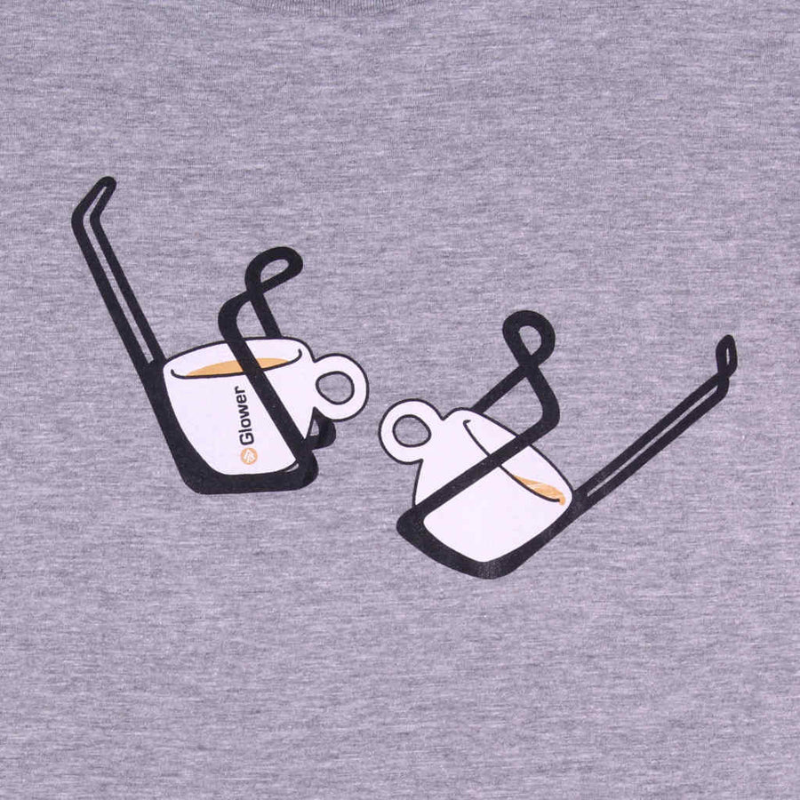 Printed t-shirt cycling design Double Espresso