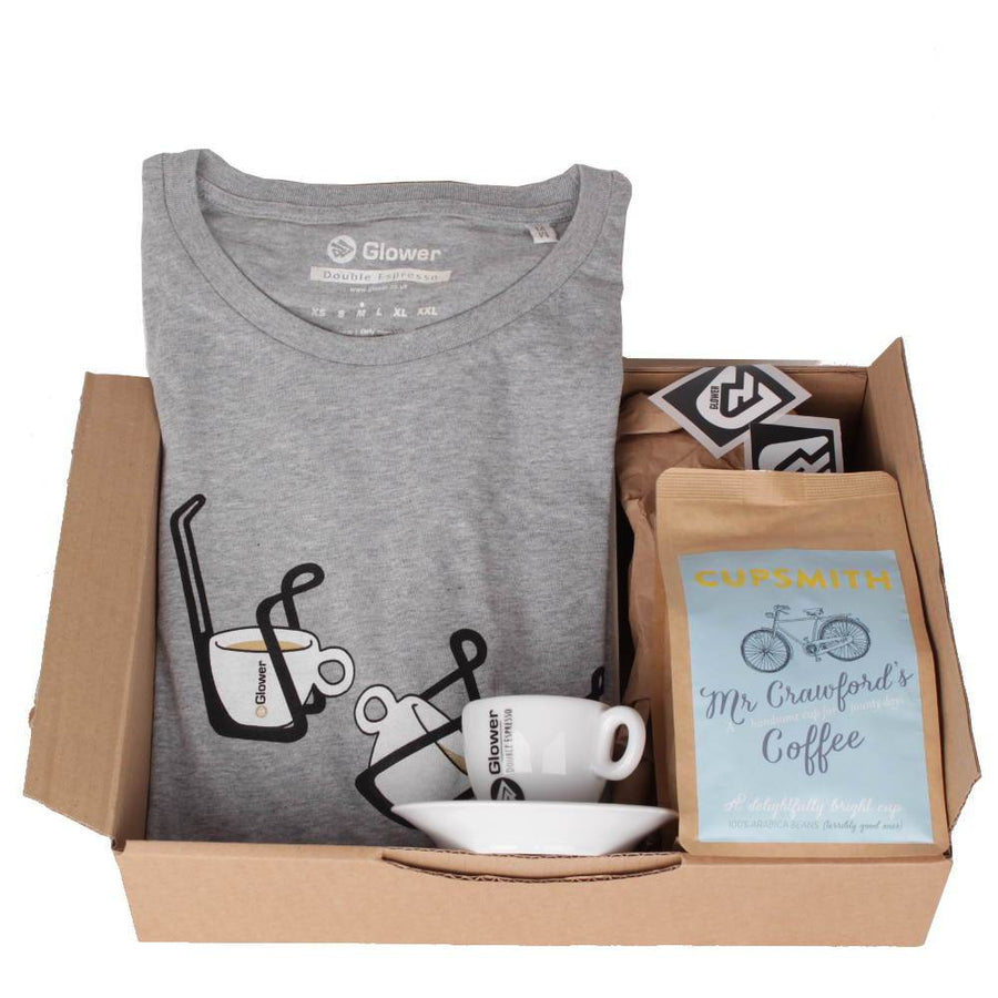 Double Espresso t-shirt & coffee - Combo Gift Box for Women