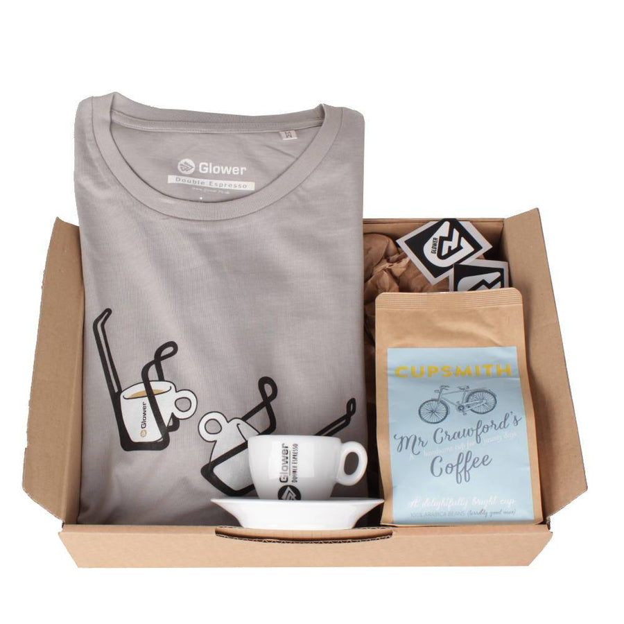 Double Espresso t-shirt & coffee - Combo Gift Box for Men
