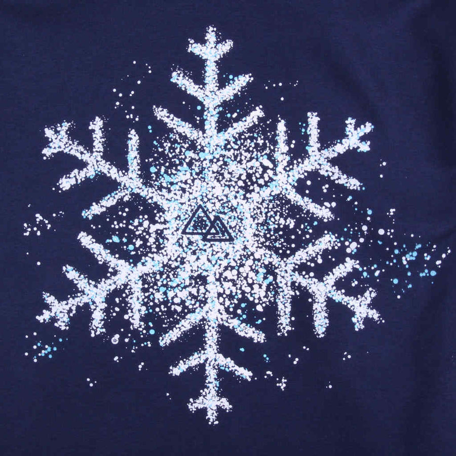 Printed hoodie snowboarding snowflake design In the Spotlight