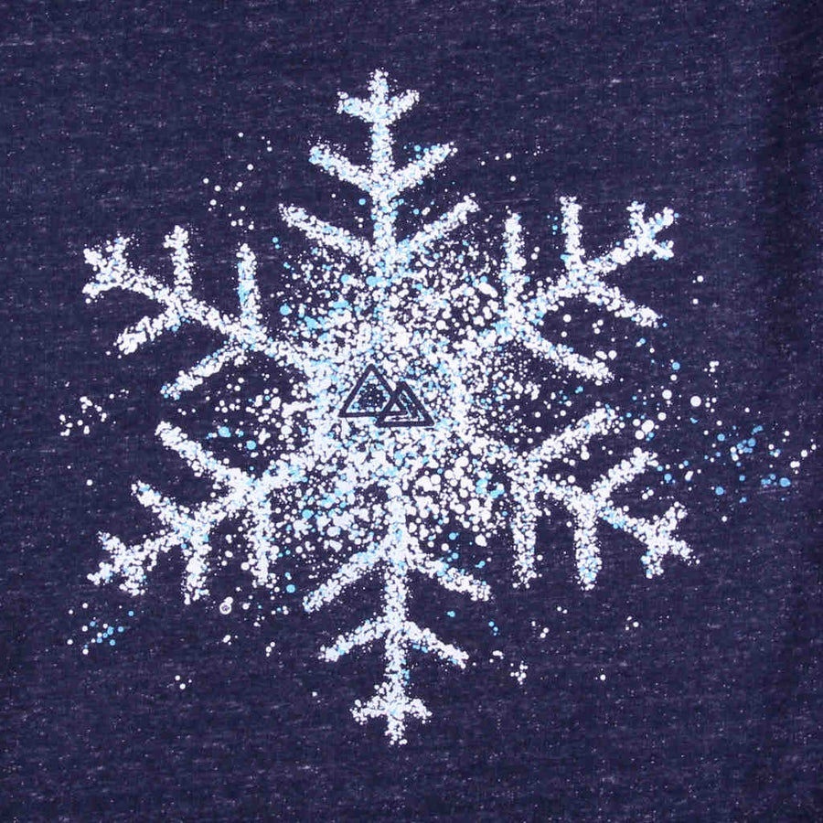 Printed sweatshirt snowboarding snowflake design In the Spotlight