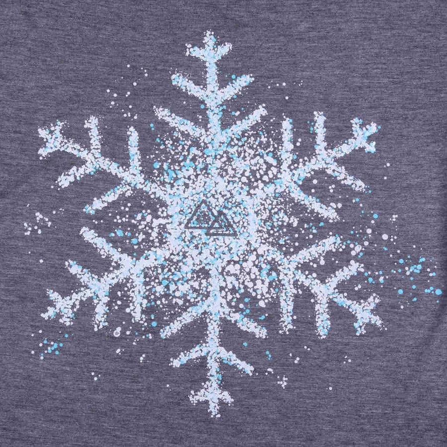 Printed tshirt snowboarding snowflake design In the Spotlight