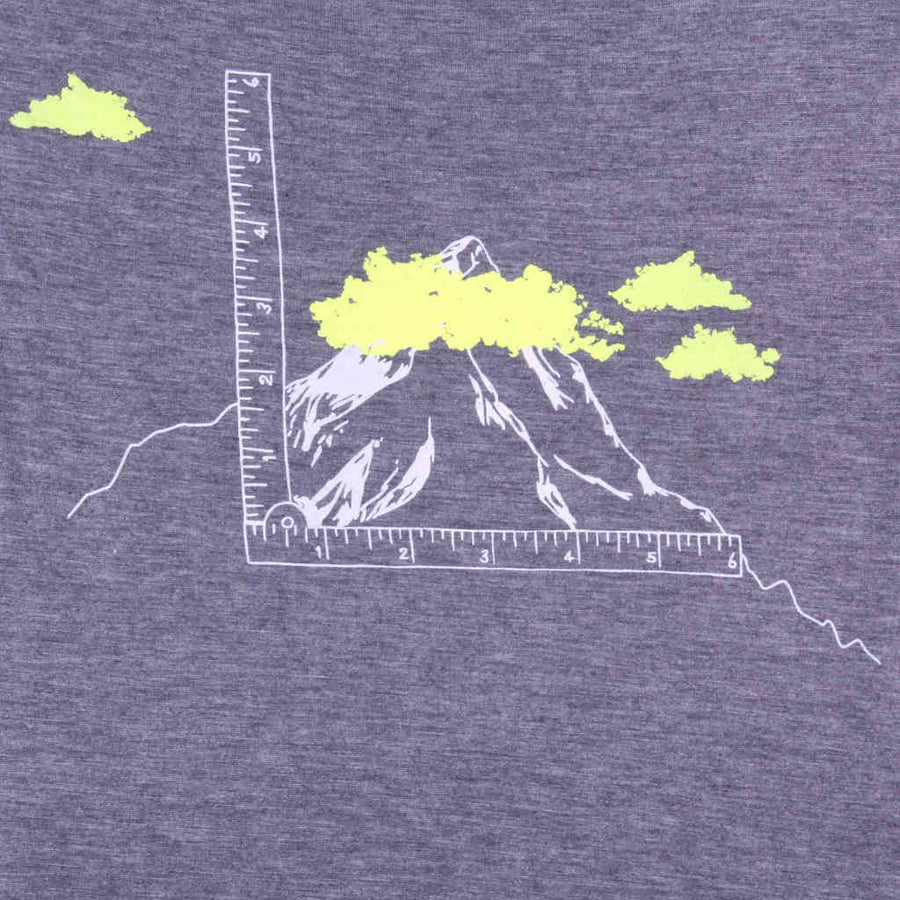 Printed tshirt mountains design It's not so High