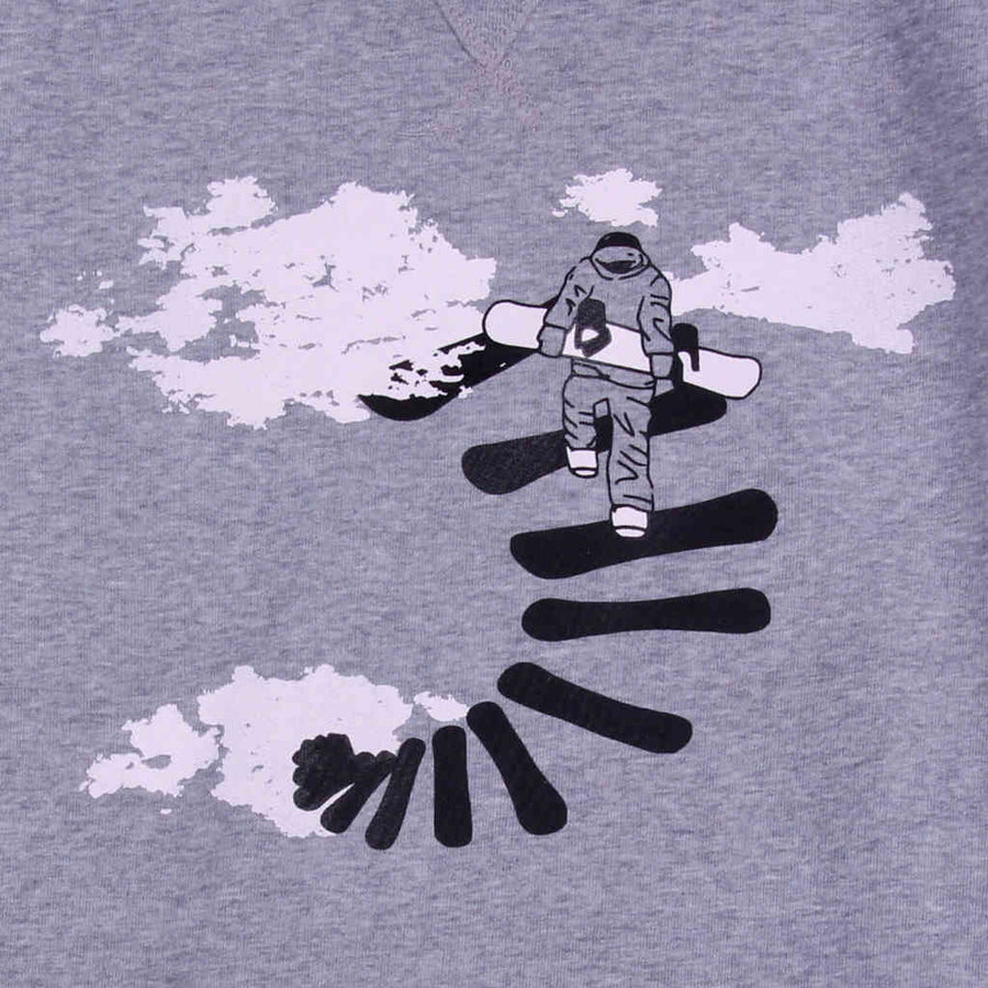 Printed sweatshirt snowboarding design Make Your Own Way