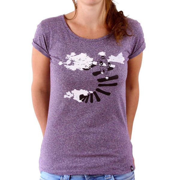 Casual Snowboarding T Shirt Make Your Own Way Glower