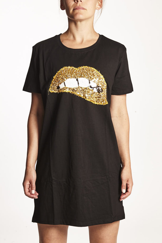 LONG TSHIRT GOLDEN LIP