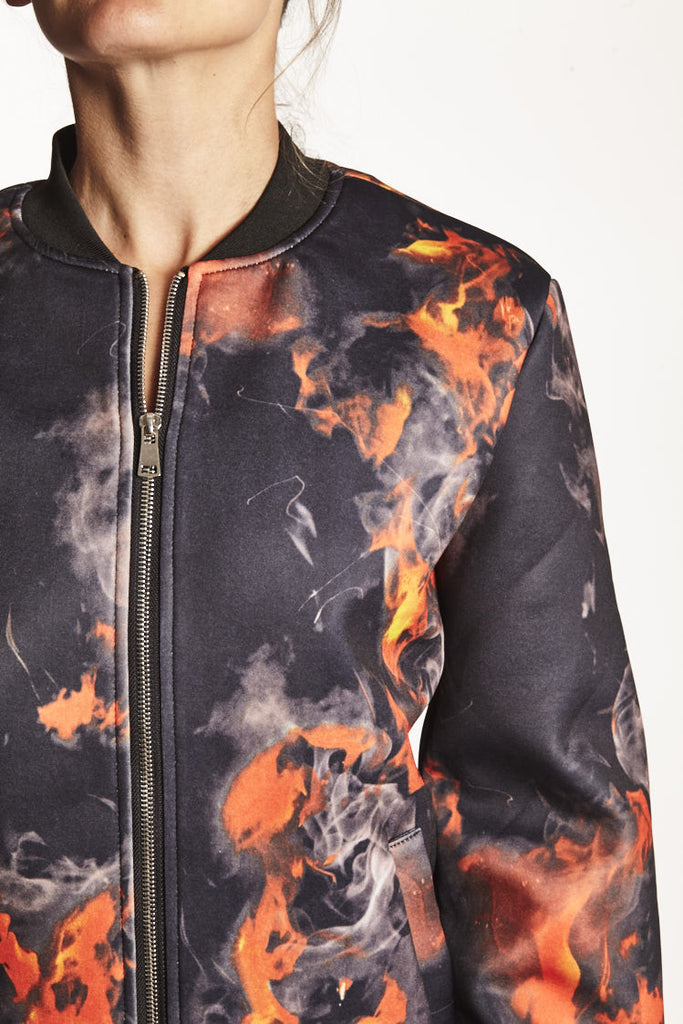 BOMBER JACKET FLAMES