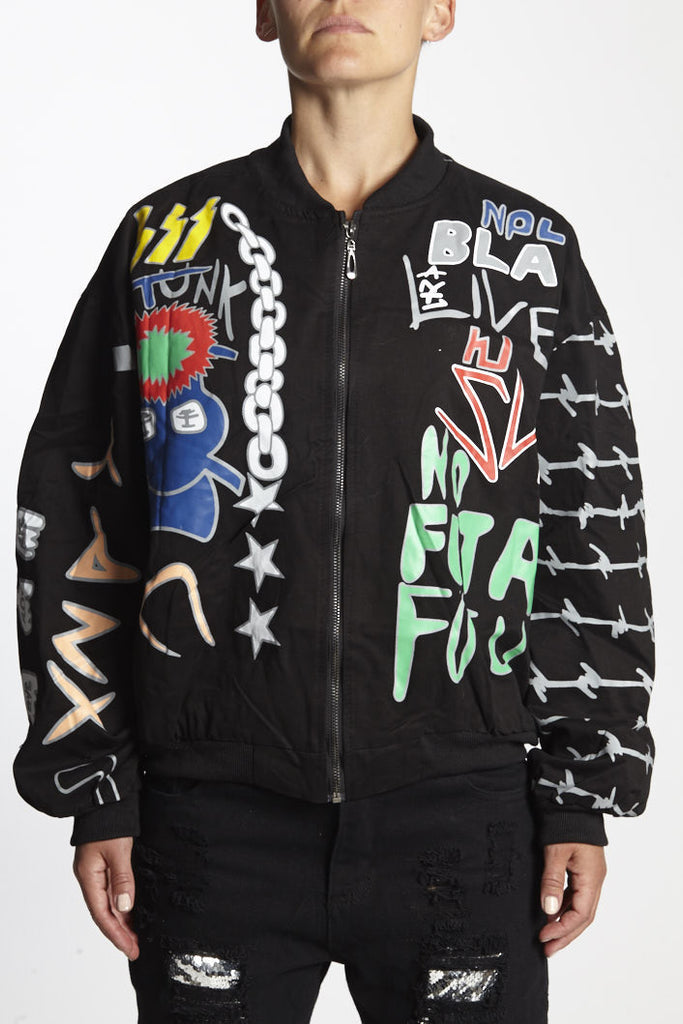 GRAFFITI BOMBER JACKET