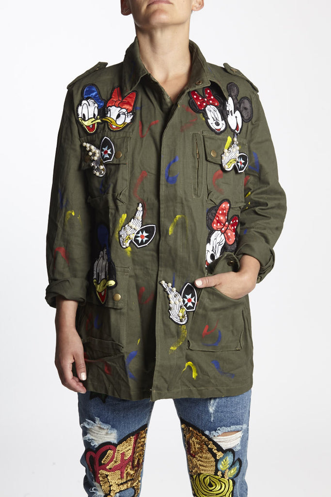 Army jacket disney squad, every jacket is unique and fabulous