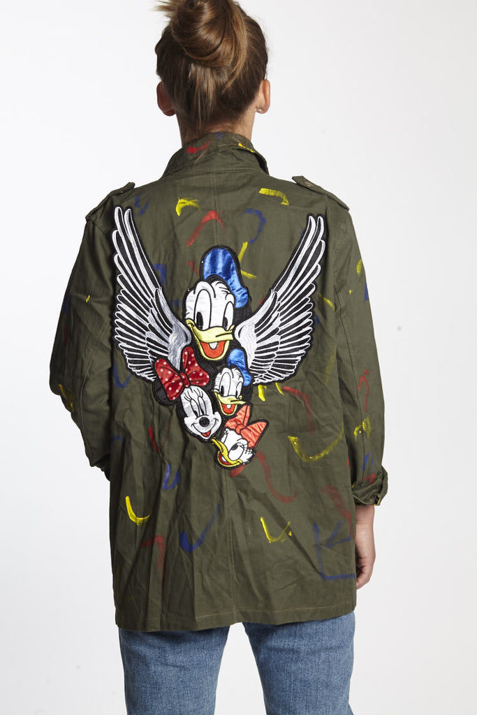 Donald Duck Army jacket disney squad, every jacket is unique and fabulous.