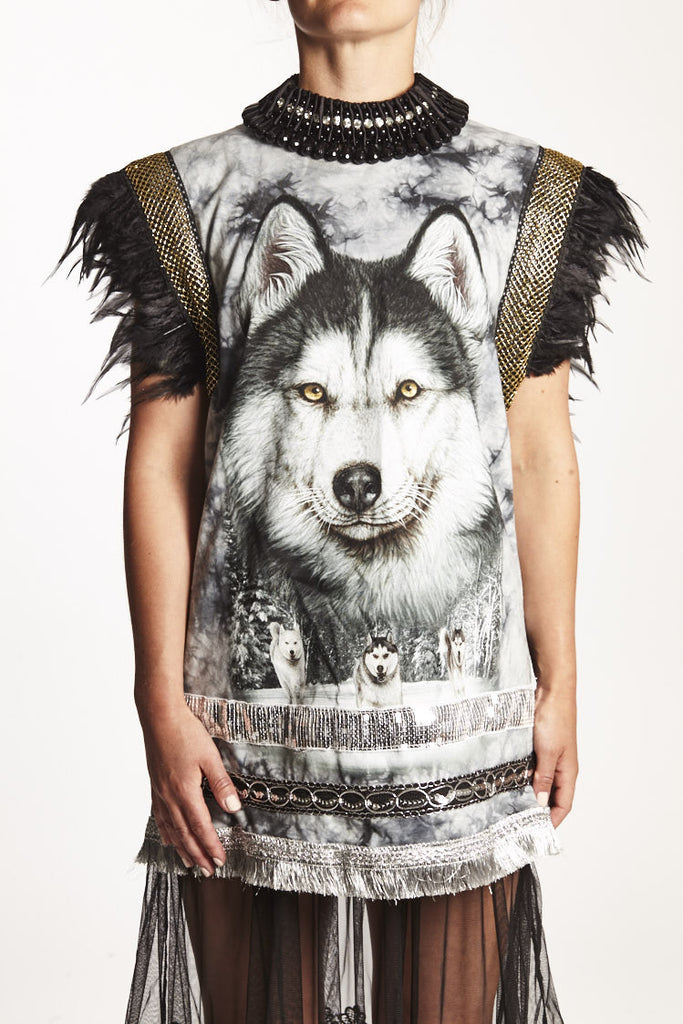 TSHIRT DRESS WOLF