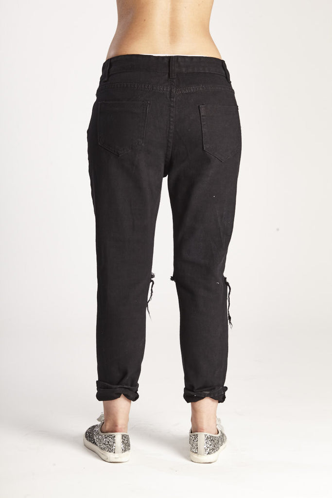 Pants Black and Silver - KAYCE.CO
