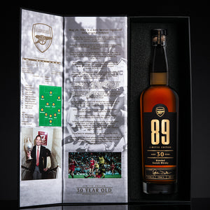 ARSENAL 89 - ANNIVERSARY EDITION 30 YEAR OLD WHISKY - AUTOGRAPHED EDITION - Bohemian Brands
