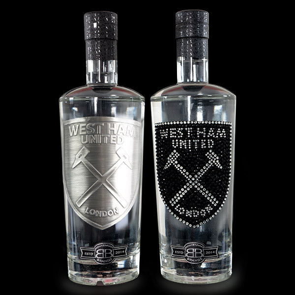 West Ham Utd FC Gin & Vodka Set - Black Crystal & Pewter Edition - Bohemian Brands