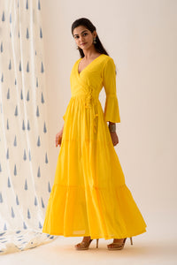 Lemon Yellow Angrakha