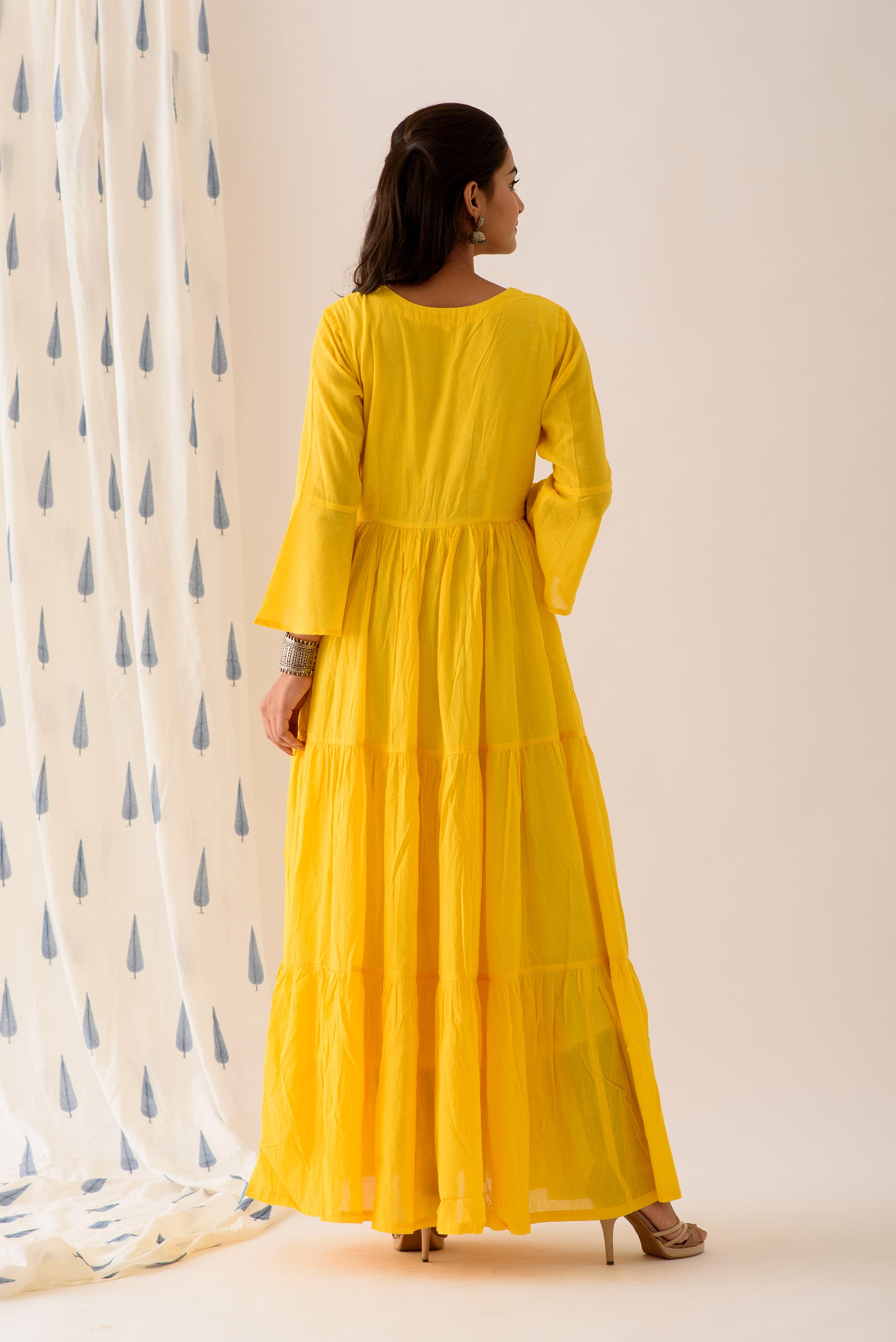 Lemon Yellow Angrakha Set