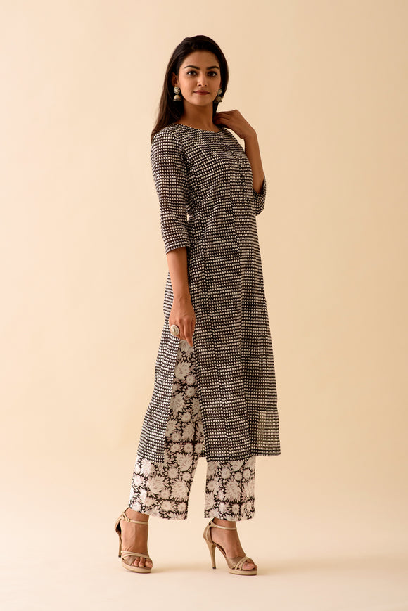 Black BlockPrint Kurta