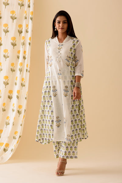 Blue MixnMatch Kurta
