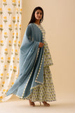 Blue Mini Mogra Sharara Set