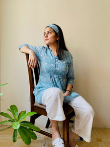 Blue Jhaal Pyjama Set - Set of 2