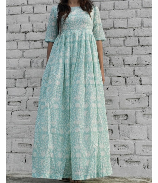 Mint BlockPrint Maxi