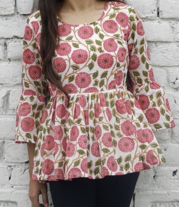 Marigold Flurry Top