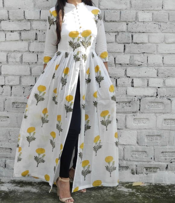Yellow Mogra Mandarin Cape