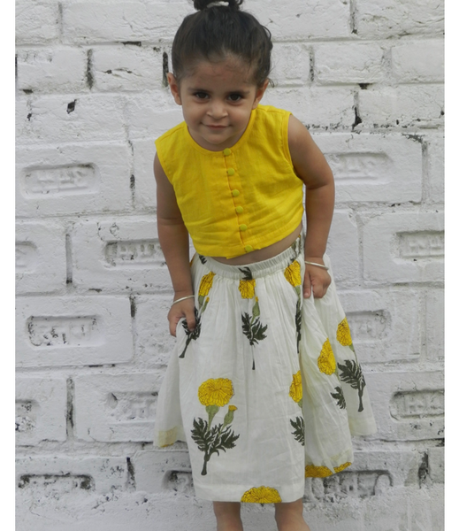 Mini Yellow Mogra Twin Set