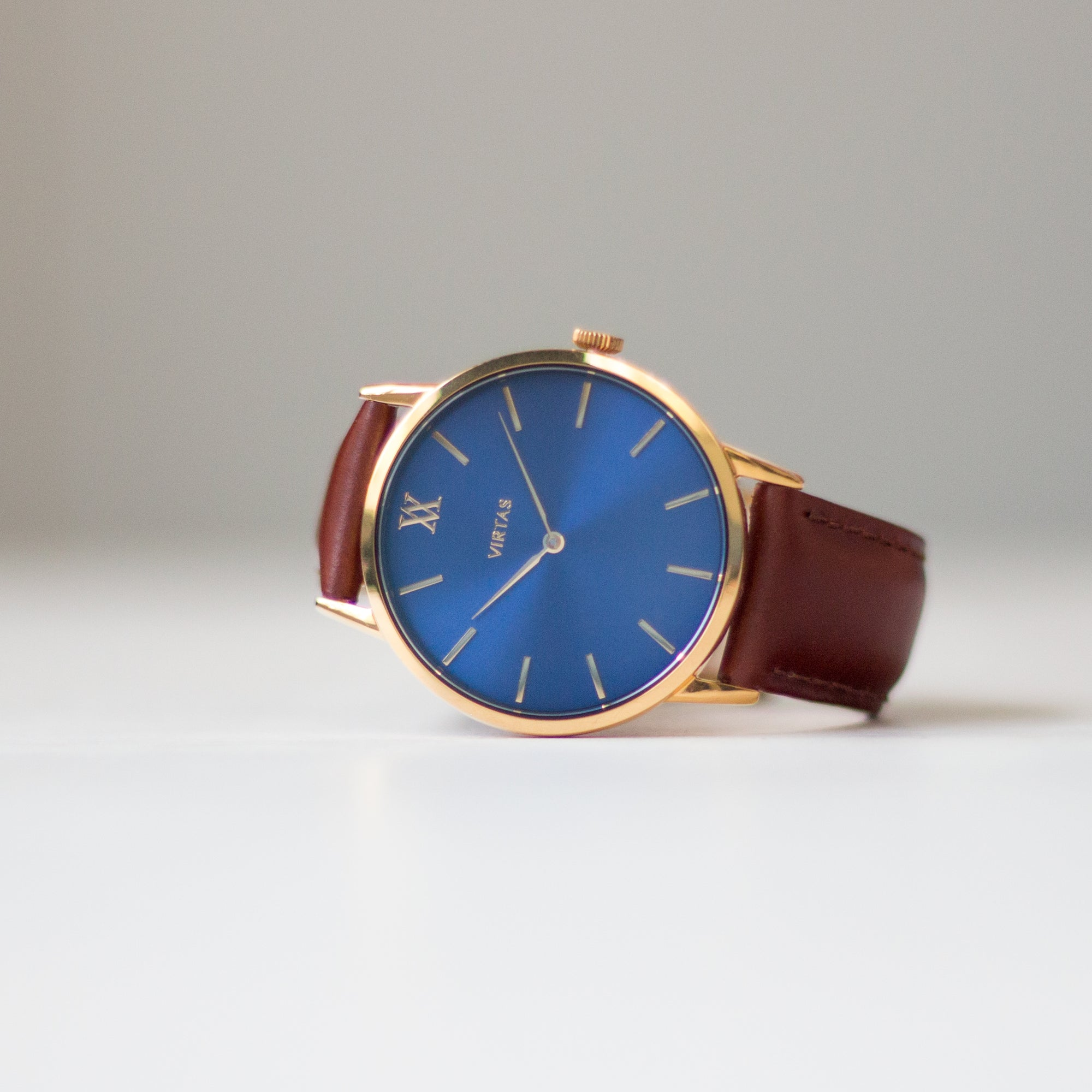 Blue + Gold | Leather