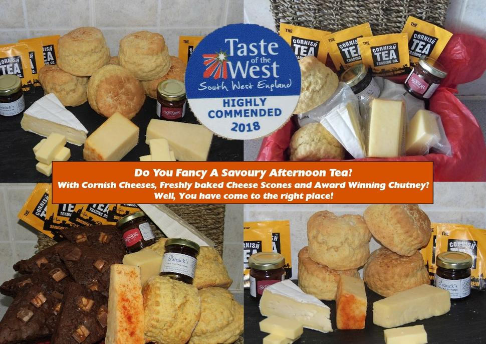 Cornish Savoury afternoon teas
