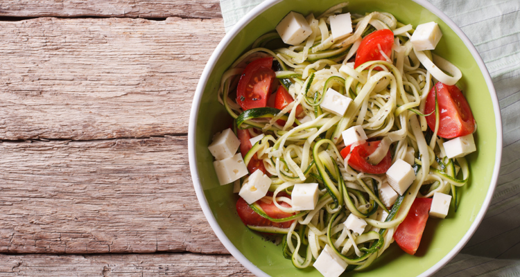 Get the Recipe: Low Carb Chicken and Zucchini Noodle Caprese