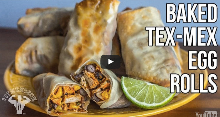 Snackable Baked Tex-Mex Egg Roll Recipe