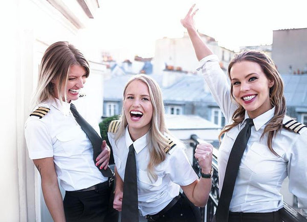 These 3 Beautiful Pilots, Fly Around the World Doing Yoga