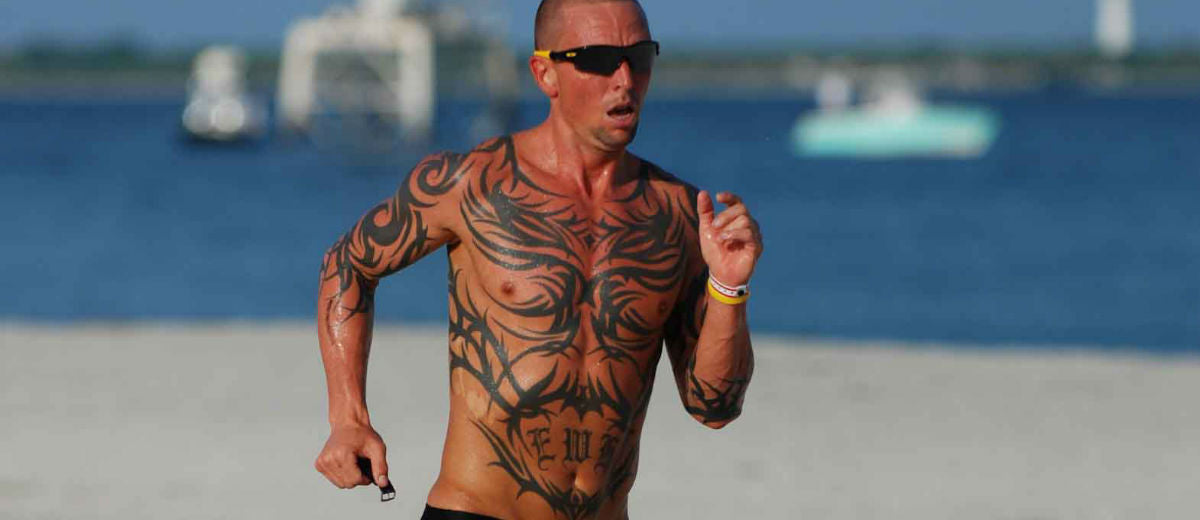 5k runner tatted up
