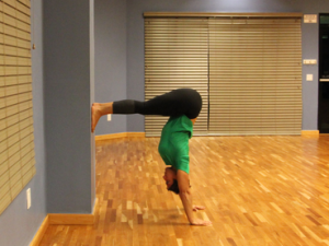 handstand progression step 2