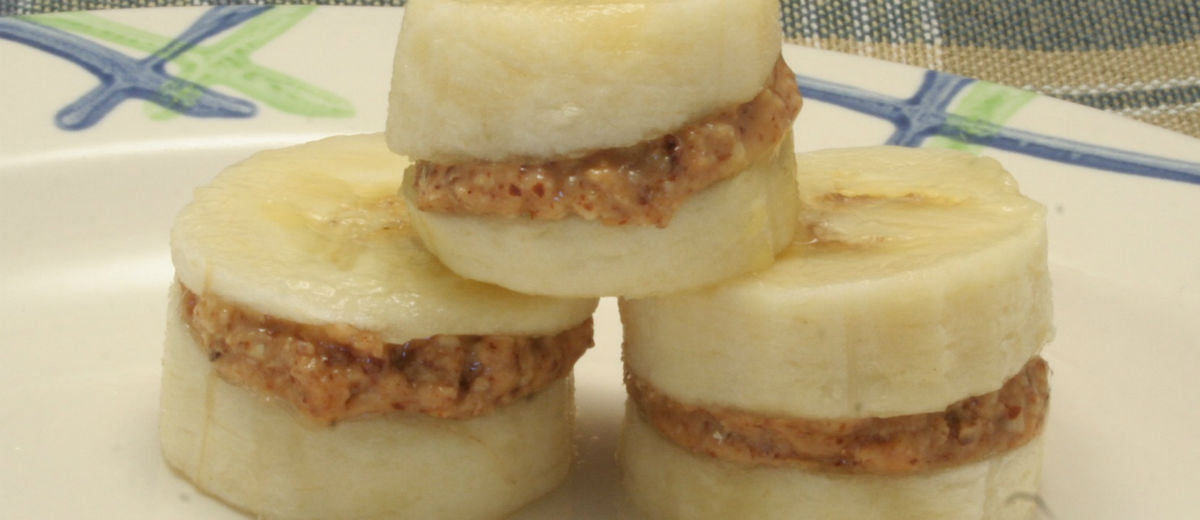 banana peanut butter sandwiches