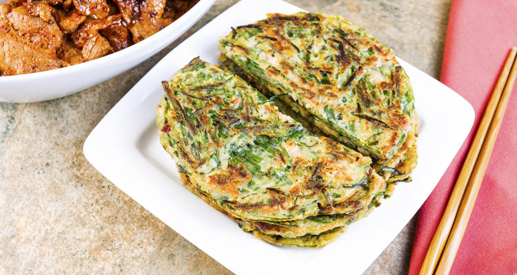korean green pancakes