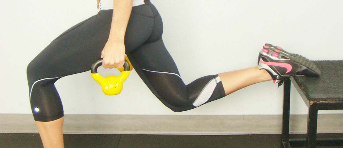 booty build weighted lunge