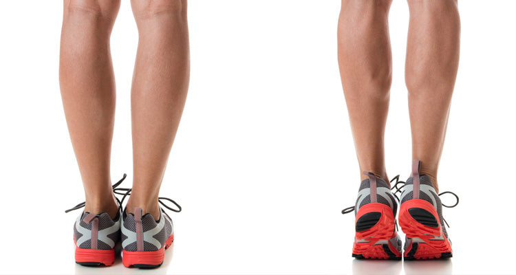 calf raises toning exercises woman