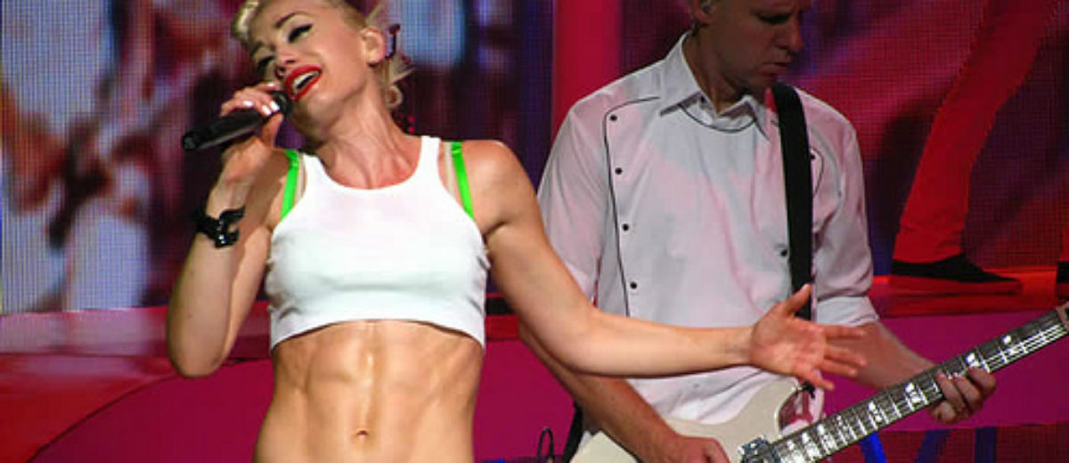 celebrities abs stefani II